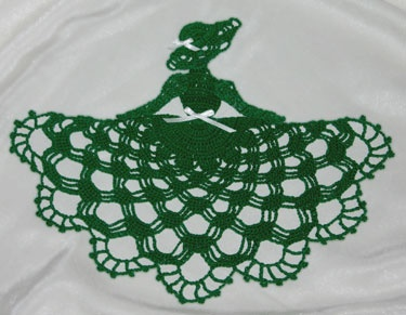 Irish Crinoline Girl Doily