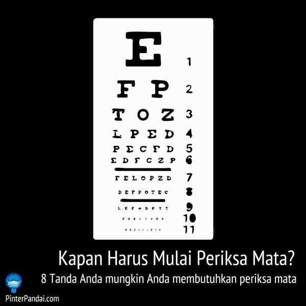 Kapan Harus Mulai Untuk Periksa Mata