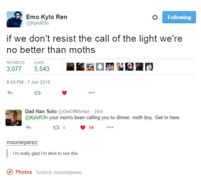 Gotta love the hilarious moments on Twitter! Star Wars: The Force Awakens