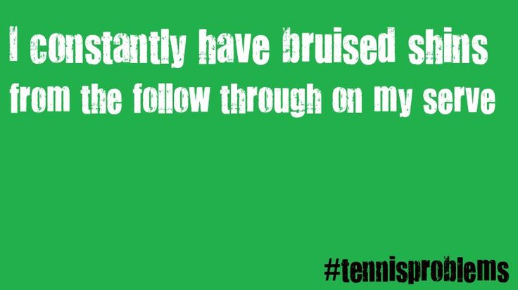 Yes!! So glad I'm not the only one! #tennisproblems