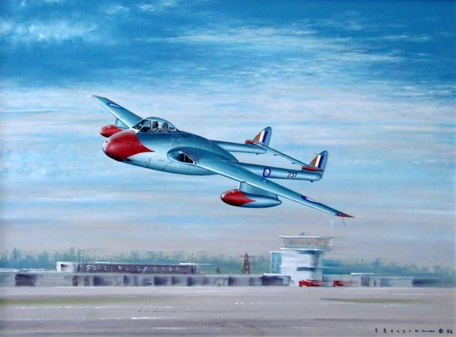 Ron Belling Artist, South African  FAA Military Paintings