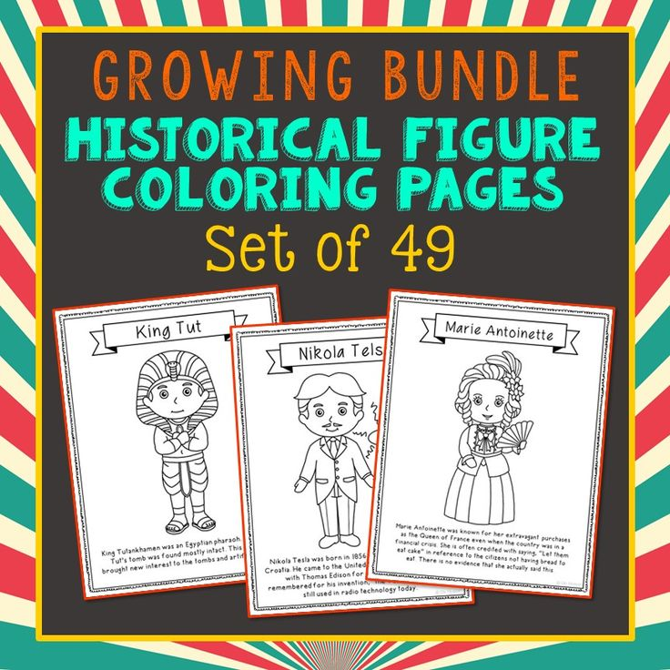 GROWING BUNDLE! Historical Figure Coloring Pages or Posters with Short Biographies. Makes a great addition to history interactive notebooks, biography projects, or research units. Bill Gates, Nikola Tesla, Sir Issac Newton, James Watt, Steve Jobs, Alessandro Volta, Samuel Morse, Alexander Graham Bell, Henry Ford, John Logie Baird, Nelson Mandela, Mikhail Gorbachev, William Wilberforce, Emily Pankhurst, Desmond Tutu, and Cesar Chavez