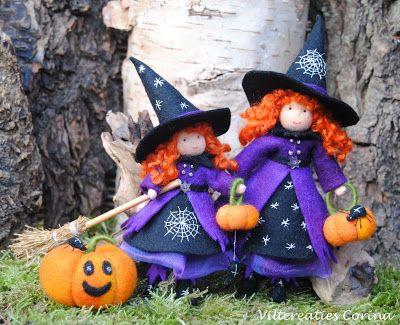 Viltcreaties Corina: Halloween heksjes!