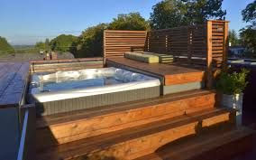 What a wonderful addition to your newly stained patio. A Beachcomber hot tub compliments most all patio furniture. #beachcomberhottubs #hottubs #outdoorliving  #canada #relaxation #hydrotherapy #massage #sunshine