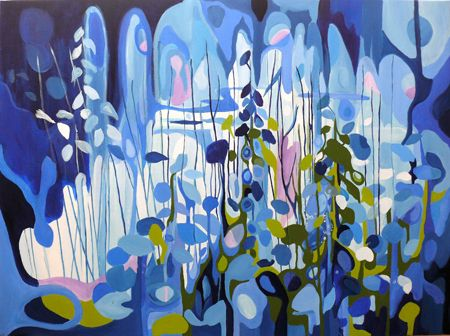 Patricia Mado  Narrabeen Lakes 3 - 2012  Oil on Canvas  100 x 75 cm