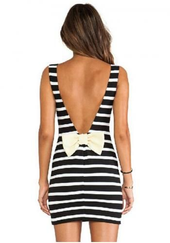 Striped Bow Back Dress great pin!