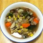 Spring Vegetable Soup, mine will be with homemade vegetable stock, not chicken stock