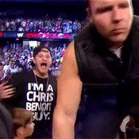 When a fan wore this shirt to a WWE event and got on TV. | Community Post: 30 GIFs That Prove Pro Wrestling Fans Are Actually Insane
