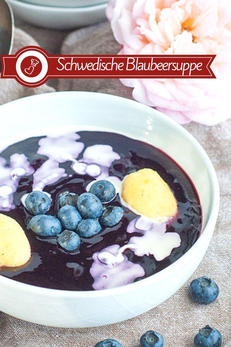 Schwedische Blaubeersuppe Rezept – typisch nordische Suppe!