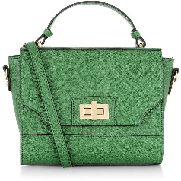 Accessorize Twistlock Across Body Bag ($22) ❤ liked on Polyvore featuring bags, handbags, shoulder bags, purses, accessories, faux leather shoulder bag, green cross body purse, metallic shoulder bag, metallic purse en faux leather crossbody purse