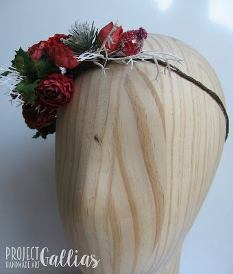 ProjectGallias:#projectgallias Handmade christmas headpiece for photo shooting, wianuszek na głowę w świątecznym klimacie, Boże Narodzenia, idealny do sesji zdjęciowej