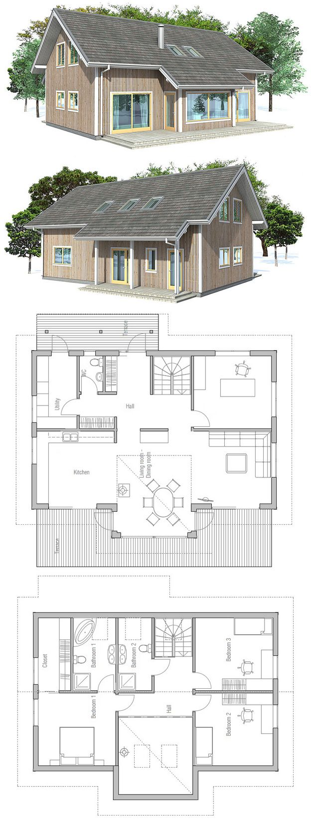 """Über 1.000 Ideen zu """"Doppelhaus Grundriss auf Pinterest 2 ... size: 624 x 1660 post ID: 6 File size: 0 B"""