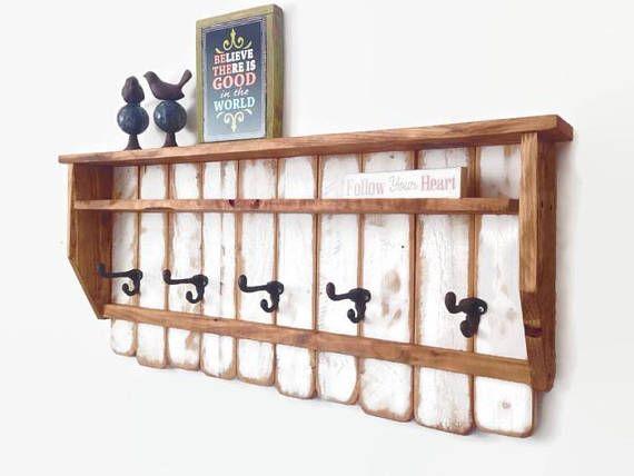 Entryway Organizer Coat Rack Modern Coat Hook Rustic Coat Rack Bathroom Hooks Reclaimed Wood Wall Art Farmhouse Coat Rack Rustic Coat Rack Entryway Organization Reclaimed Wood Wall Art