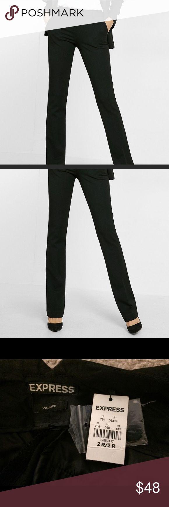 🆕 Express Columnist Pants Black Straight Leg Pants Express Pants Straight Leg