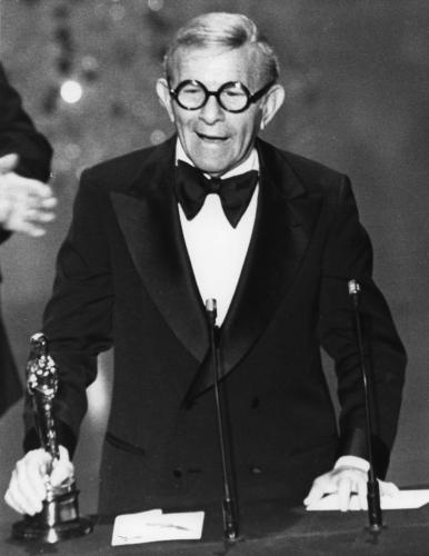 George Burns won the Academy Award for Best Supporting Actor for the film The Sunshine Boys in 1975.