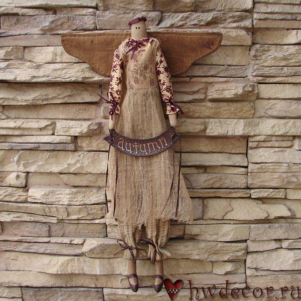 Примитивная кукла Ангел Осень (из набора)