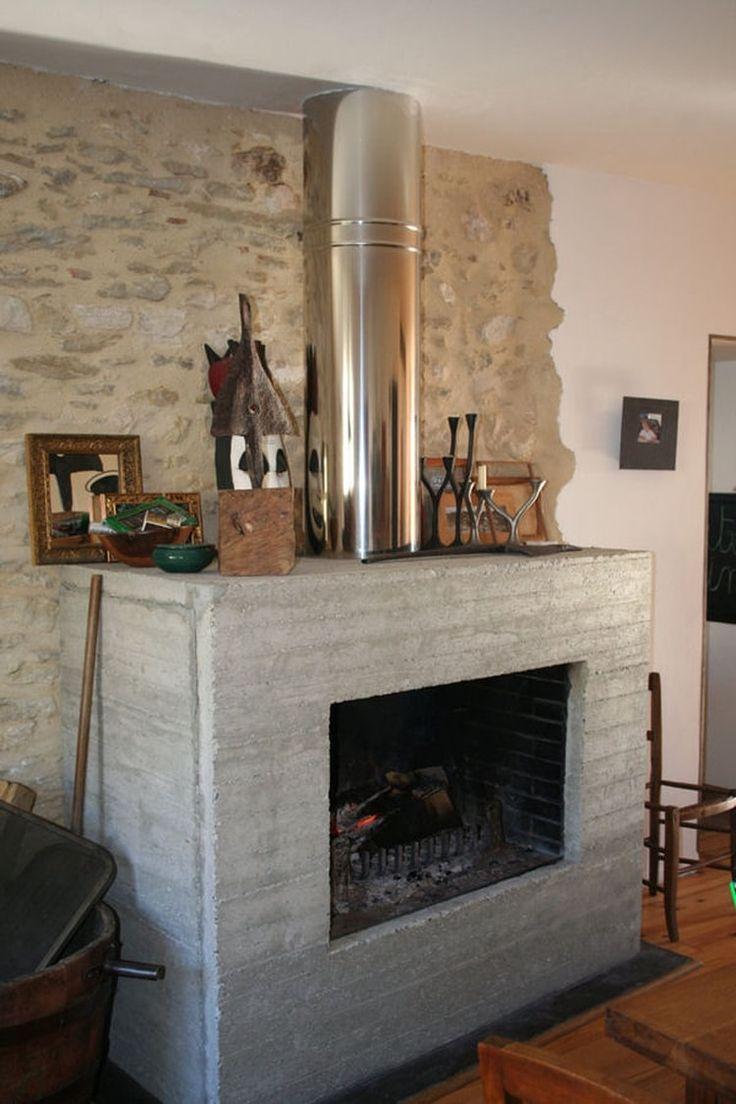 Une cheminée en béton