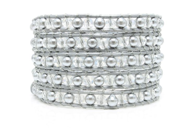 SOPHIE Wrap Bracelet by #Beautiz. Beautiful 5 layer handcrafted leather wrap bracelet. Swarovski crystals and pearls. Stainless Steel and Nickel-Free Clasp. Shop here: http://www.beautiz.net/english/fashion-jewelry/bracelets/wrap-bracelets/sophie.html?___SID=U