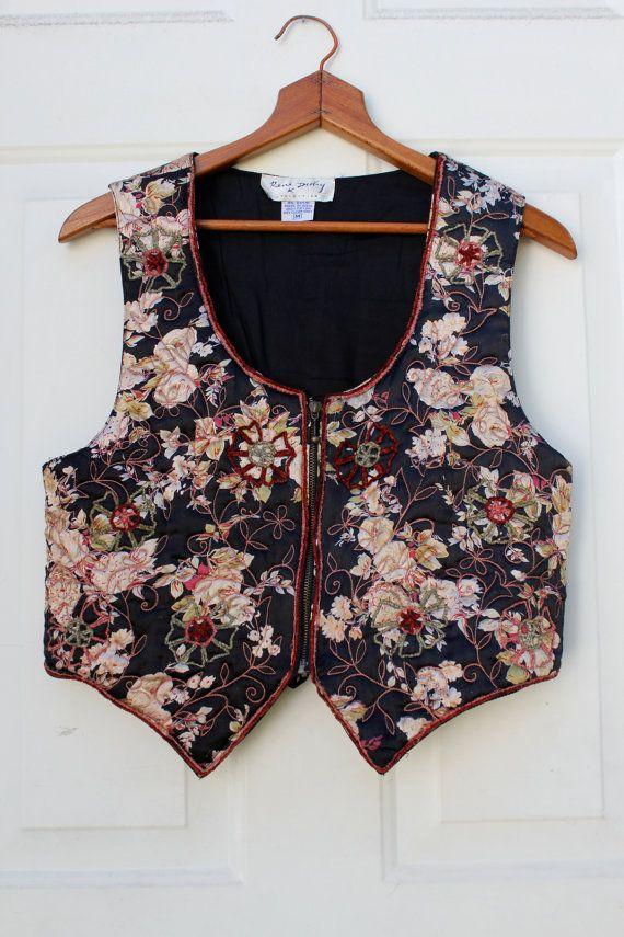 Floral Embroidered Vest