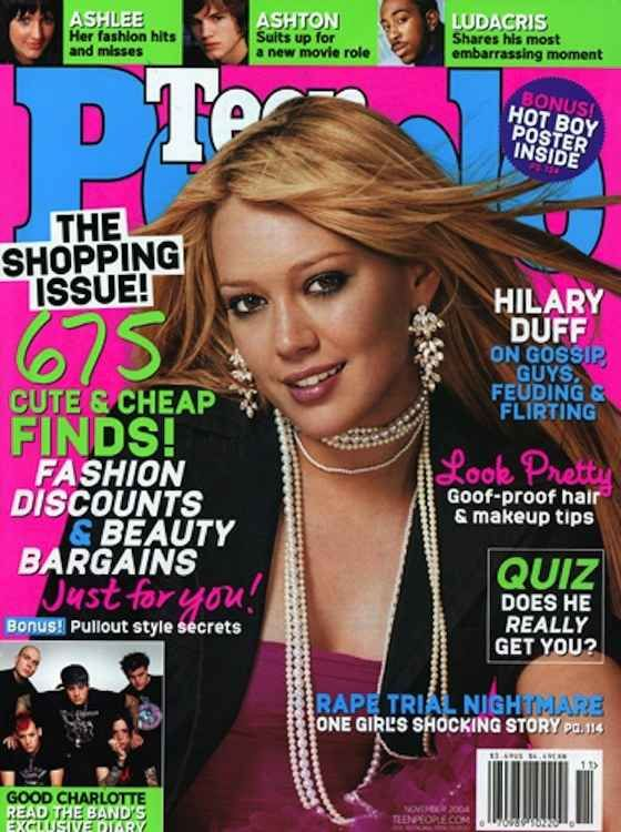November: Hilary Duff opened up on her feuds (aka she threw shade at Lindsay Lohan). | 11 Riveting Teen People Covers That Immortalized 2004