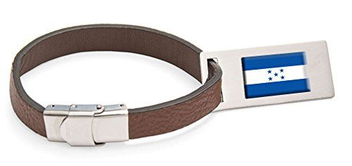 Luggage Tags Collections | Honduras Flag Leather Luggage Tag Steel Engraved Text * You can find out more details at the link of the image. Note:It is Affiliate Link to Amazon.