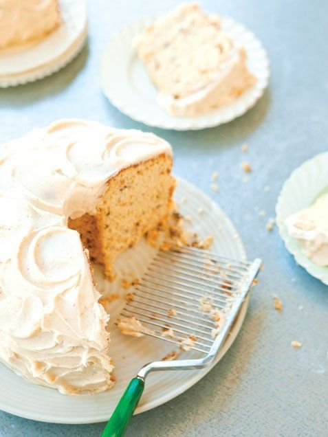 Maple Pecan Chiffon Cake with Brown Butter Icing Thanksgiving Dessert ...