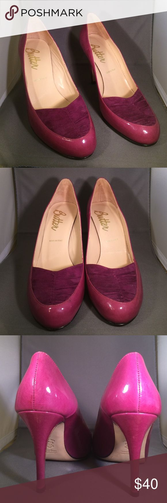 Butter Fuscia Pump Sexy pump will add a pop of color to your outfit. Excellent used condition Butter Shoes Shoes Heels