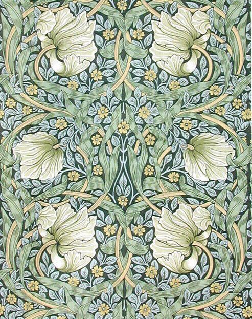 William Morris. Pimpernel wallpaper