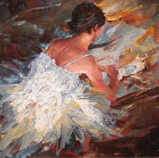 """""""Prima"""" Oil on Canvas 18"""" x 18"""""""