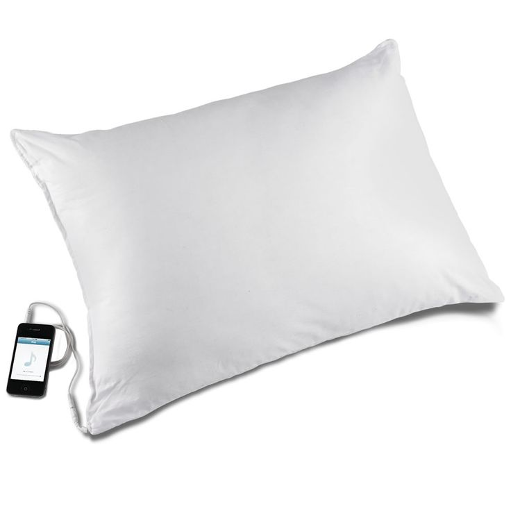 The Personal Speaker Pillow. Only the person lying on the pillow can hear the sound. Much nicer than sleeping with earphones in. Yes please!