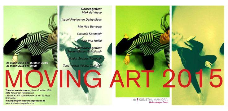 Moving Art 2015 - de jaarlijkse voorstelling van de! Kunsthumaniora Hedendaagse Dans - Theater aan de Stroom, 25 & 26 maart 2015.