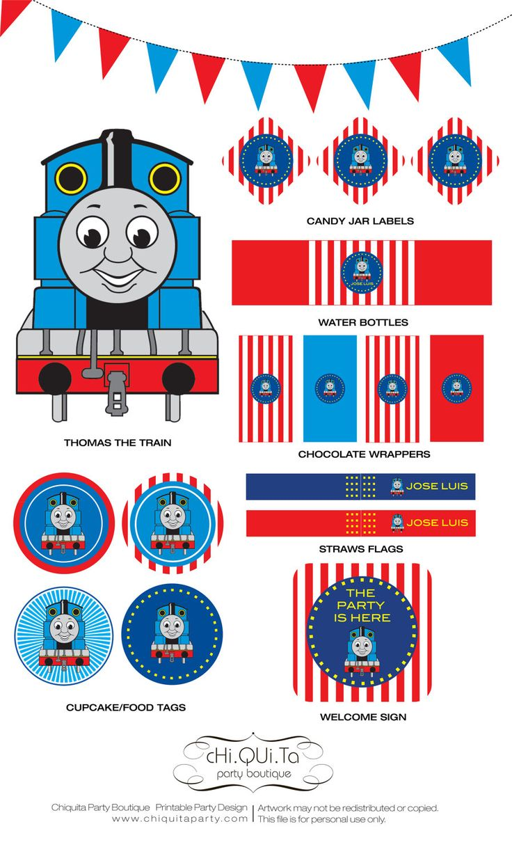Printable Thoma's The Train Birthday Party (PDF). $15.76, via Etsy.