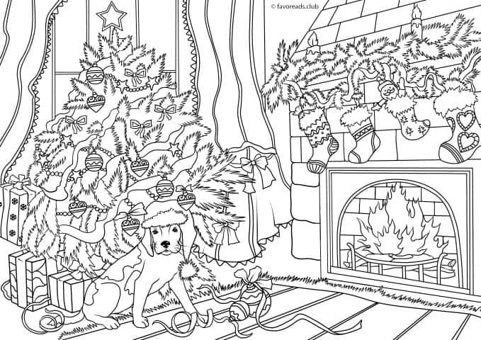 Cats And Dogs Cozy Christmas Favoreads Coloring Club Puppy Coloring Pages Coloring Pages Coloring Pages Inspirational