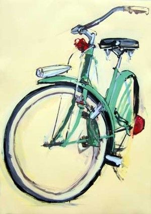 This would be my DREAM bike.Bicycles Drawing, Simple Watercolors Bicycles, Vintage Bikes,  Off-Road, Bicycles Painting,  All-Terrain Bikes, Vintage Bicycles, Bicycles Art, Bikes Art