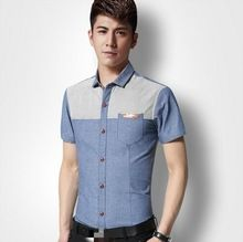D70810H 2015 new summer men's shirt Korean business Man short Sleeve Shirt with big Size  best buy follow this link http://shopingayo.space