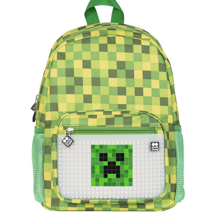 PIXIE CREW Kid´s Backpack GREEN CHEQUERED/GLOW IN THE DARK - Kid´s Backpacks - Backpacks  | Pixie Crew