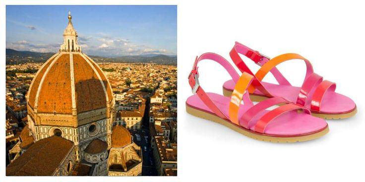 Una vacanza in una città d'arte o in una capitale europea? scegli il colorato sandalo flat AIDA  #sandali #flatsandals #sandals #holiday #summer2014 #florence #firenze #travel #trip