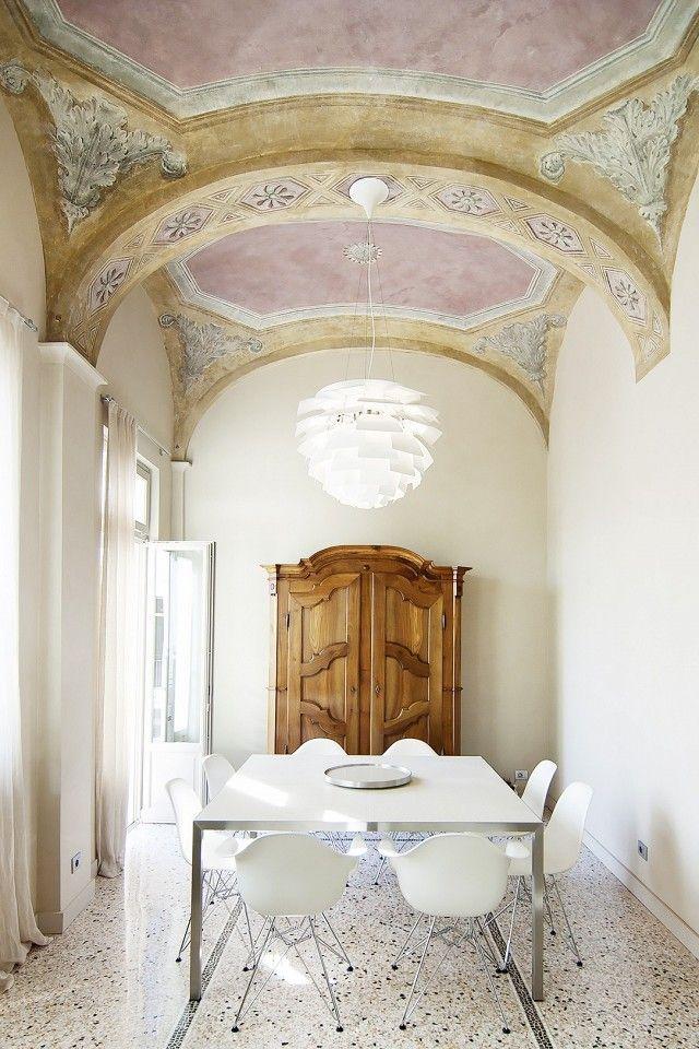 dining room with terrazzo floor
