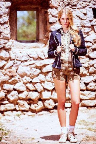 Süßer Lederhose Damen Trachten Style mit Damen Janker