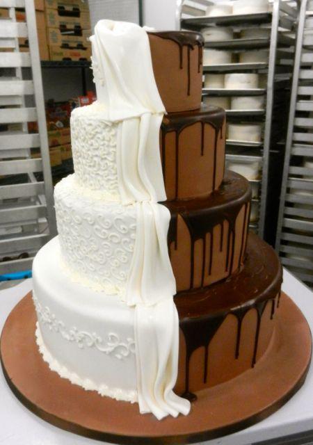 Half & Half wedding cake | Wedding Ideas | Pinterest ...