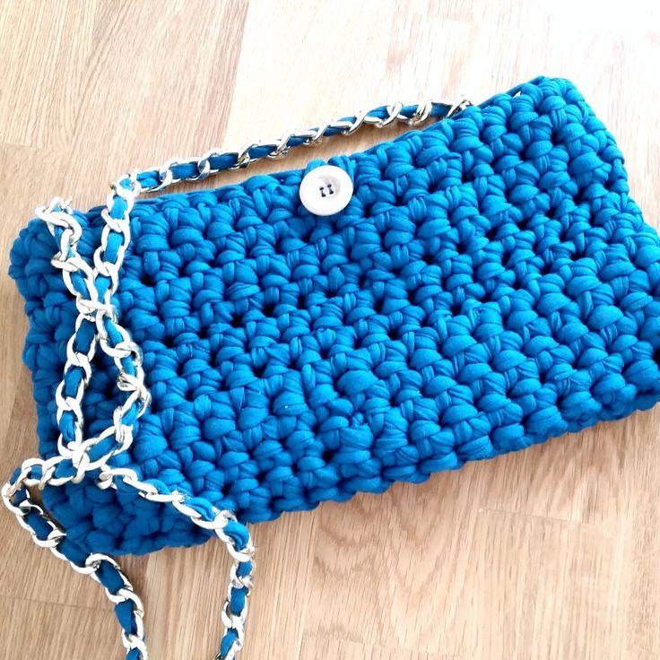 Mejores 180 im genes de trapillo en pinterest cestas de - Puntos crochet trapillo ...