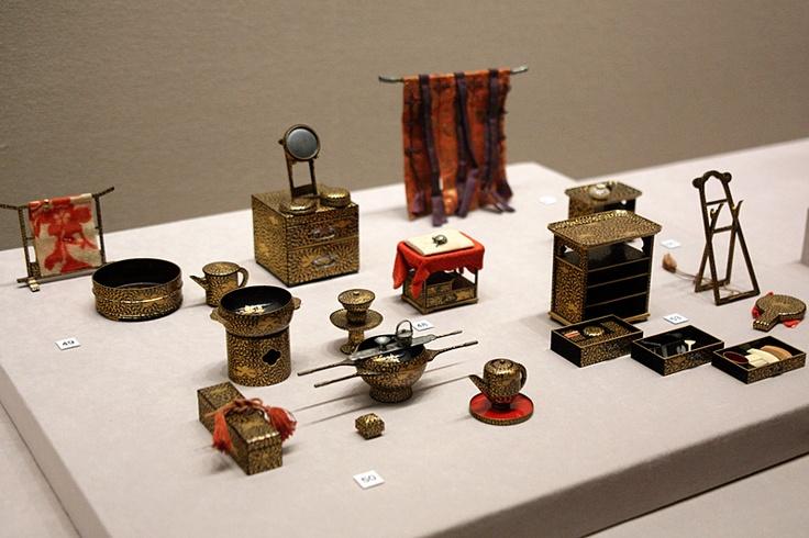 牡丹唐草文、化粧道具,七澤屋製, 江戸時代, 虎屋蔵