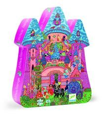 £10.00 DJECO The Fairy Castle Jigsaw - The fairy castle is very busy today, everyone is hurrying across the court yard or flying about.   Once you have put the puzzle together, have a look at the detail. What is that naughty prince doing at the window? Is someone dressed as a kangaroo? Who is patting a black cat?  54 piece puzzle packaged in a gorgeous silhouette box, ideal for decorating a playroom or bedroom.