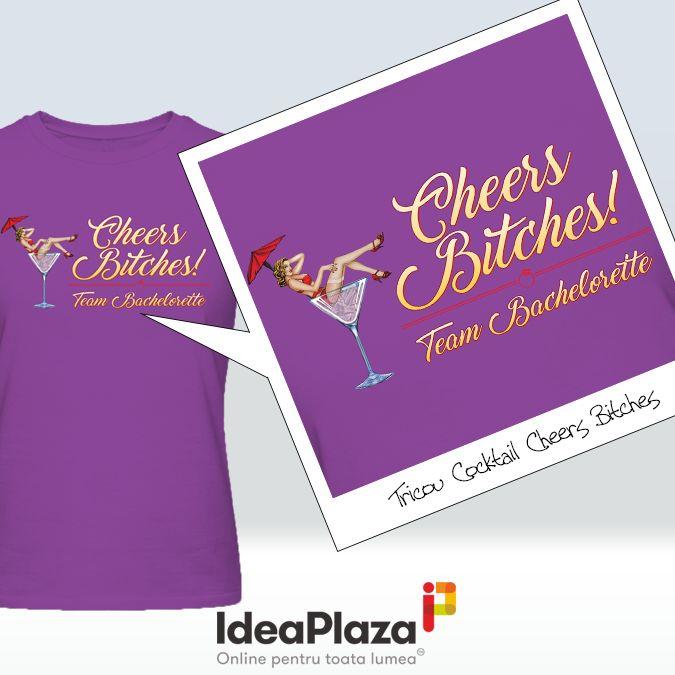 Un NOU model de #Tricou pentru Petrecerea Burlacitelor --- Tricou Cocktail Cheers Bitches --- http://goo.gl/RPHVhf