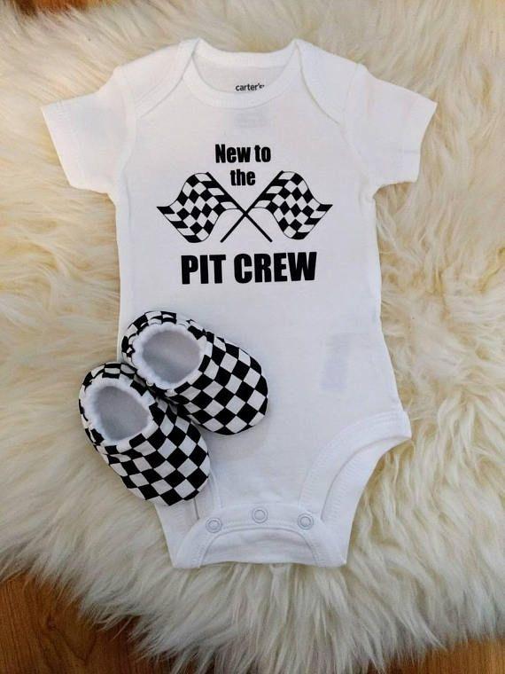 a6678b0c9 NASCAR CARTER'S BODYSUIT Short sleeves and slipper/moccs Racing Baby, Baby  Boy Nurseries,