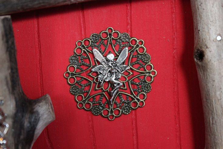 ladybug red fairy door, fairy charm