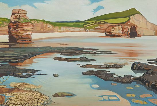 The Cove at Ladram by Anna Dillon