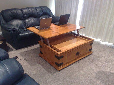 Neat Coffee Table Computer Desk Home Decorating Ideas Pinterest