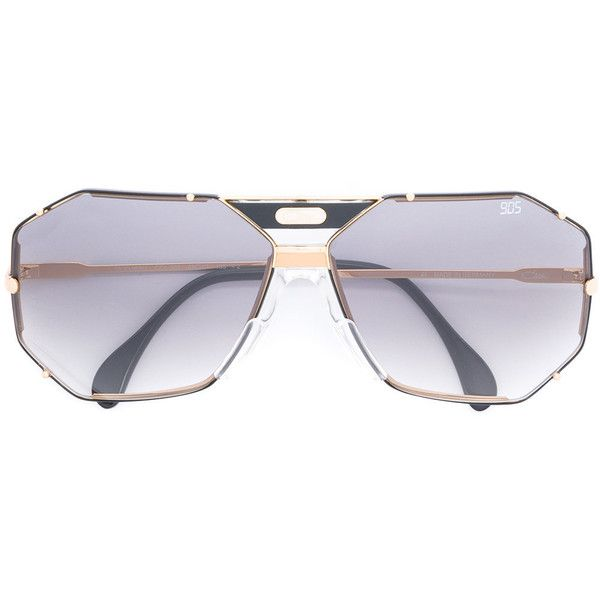 Cazal Vintage Frame sunglasses (£330) ❤ liked on Polyvore featuring accessories, eyewear, sunglasses, black, cazal sunglasses, cazal eyewear, metal glasses, cazal and cazal glasses