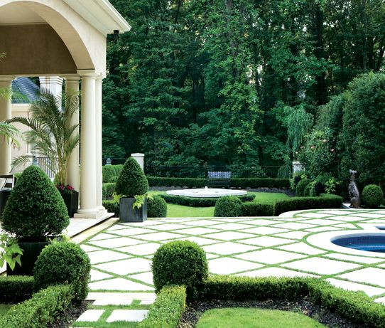 Patio Ground Cover Ideas simple diy flagstone patio mortar An Elegant Patio Can Be Designed Growing A Ground Cover Between Cement Pavers